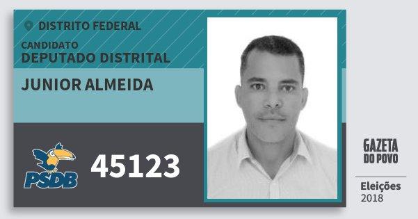 Santinho Junior Almeida 45123 (PSDB) Deputado Distrital | Distrito Federal | Eleições 2018