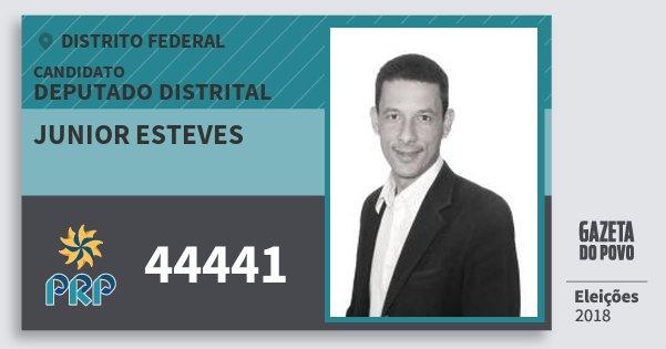 Santinho Junior Esteves 44441 (PRP) Deputado Distrital   Distrito Federal   Eleições 2018