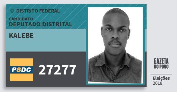 Santinho Kalebe 27277 (DC) Deputado Distrital | Distrito Federal | Eleições 2018