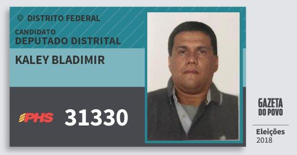 Santinho Kaley Bladimir 31330 (PHS) Deputado Distrital | Distrito Federal | Eleições 2018