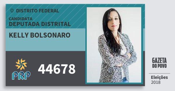 Santinho Kelly Bolsonaro 44678 (PRP) Deputada Distrital | Distrito Federal | Eleições 2018