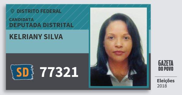 Santinho Kelriany Silva 77321 (SOLIDARIEDADE) Deputada Distrital | Distrito Federal | Eleições 2018