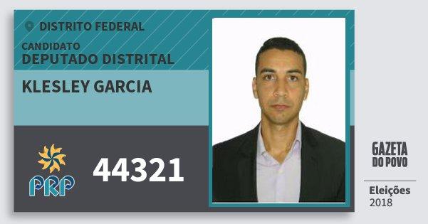 Santinho Klesley Garcia 44321 (PRP) Deputado Distrital | Distrito Federal | Eleições 2018