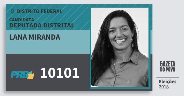 Santinho Lana Miranda 10101 (PRB) Deputada Distrital | Distrito Federal | Eleições 2018