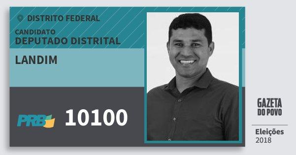 Santinho Landim 10100 (PRB) Deputado Distrital | Distrito Federal | Eleições 2018