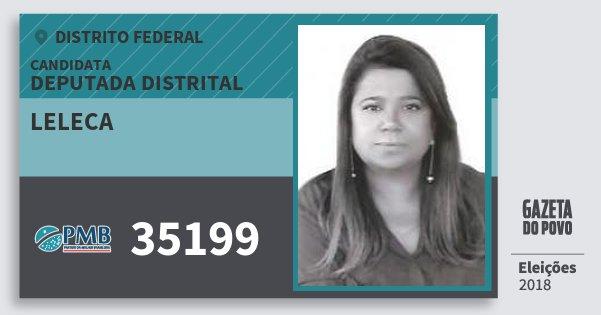 Santinho Leleca 35199 (PMB) Deputada Distrital | Distrito Federal | Eleições 2018
