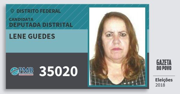 Santinho Lene Guedes 35020 (PMB) Deputada Distrital | Distrito Federal | Eleições 2018