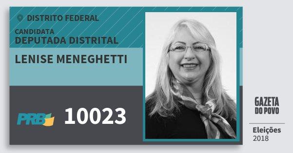 Santinho Lenise Meneghetti 10023 (PRB) Deputada Distrital | Distrito Federal | Eleições 2018