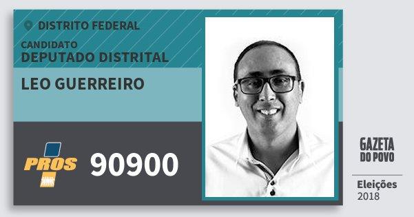 Santinho Leo Guerreiro 90900 (PROS) Deputado Distrital | Distrito Federal | Eleições 2018