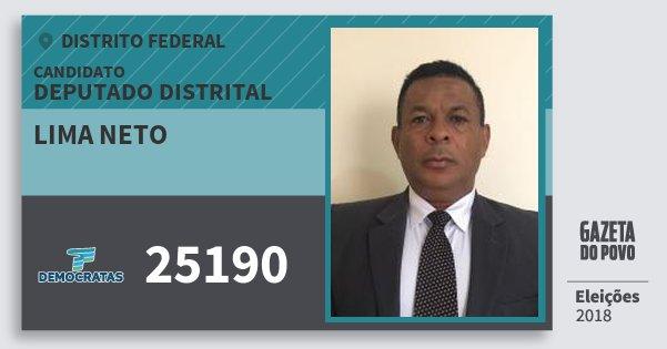 Santinho Lima Neto 25190 (DEM) Deputado Distrital | Distrito Federal | Eleições 2018
