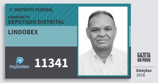 Santinho Lindobex 11341 (PP) Deputado Distrital | Distrito Federal | Eleições 2018