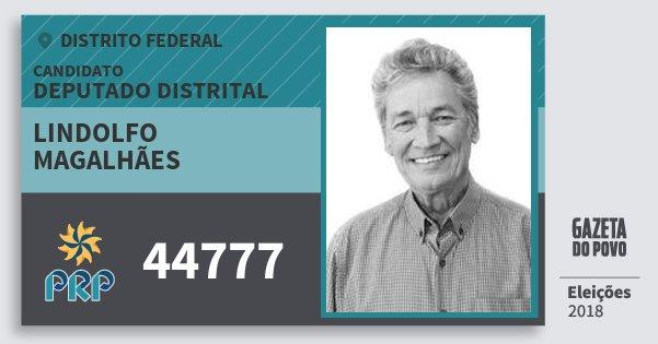 Santinho Lindolfo Magalhães 44777 (PRP) Deputado Distrital | Distrito Federal | Eleições 2018