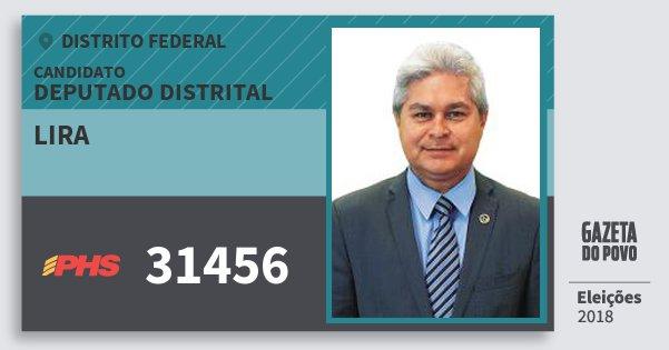 Santinho Lira 31456 (PHS) Deputado Distrital | Distrito Federal | Eleições 2018