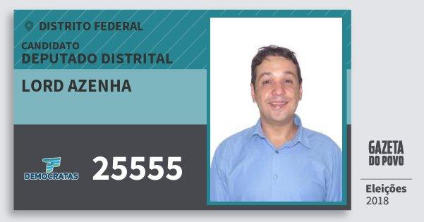Santinho Lord Azenha 25555 (DEM) Deputado Distrital | Distrito Federal | Eleições 2018