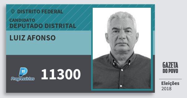 Santinho Luiz Afonso 11300 (PP) Deputado Distrital | Distrito Federal | Eleições 2018