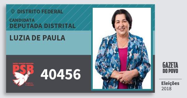 Santinho Luzia de Paula 40456 (PSB) Deputada Distrital | Distrito Federal | Eleições 2018