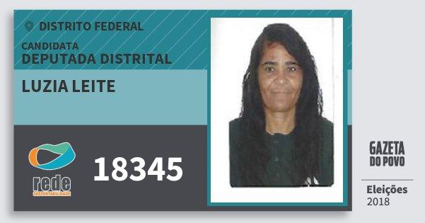 Santinho Luzia Leite 18345 (REDE) Deputada Distrital | Distrito Federal | Eleições 2018