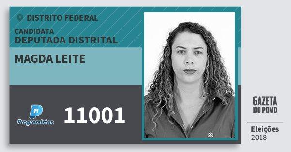 Santinho Magda Leite 11001 (PP) Deputada Distrital | Distrito Federal | Eleições 2018