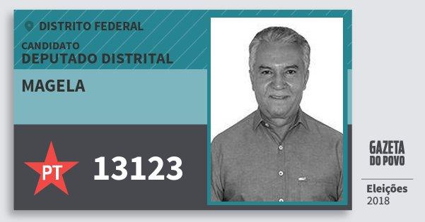 Santinho Magela 13123 (PT) Deputado Distrital | Distrito Federal | Eleições 2018