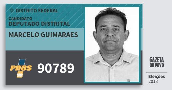 Santinho Marcelo Guimaraes 90789 (PROS) Deputado Distrital | Distrito Federal | Eleições 2018