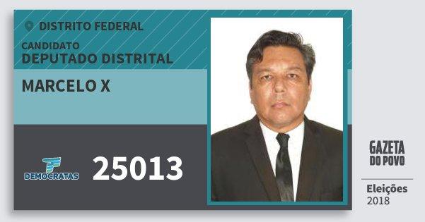 Santinho Marcelo X 25013 (DEM) Deputado Distrital | Distrito Federal | Eleições 2018