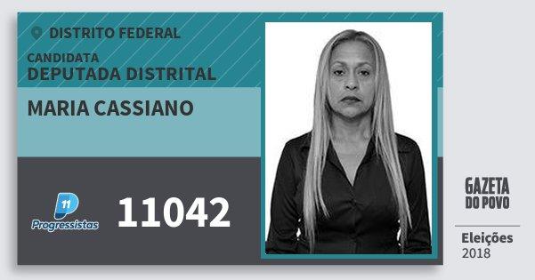 Santinho Maria Cassiano 11042 (PP) Deputada Distrital | Distrito Federal | Eleições 2018