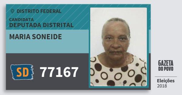 Santinho Maria Soneide 77167 (SOLIDARIEDADE) Deputada Distrital | Distrito Federal | Eleições 2018