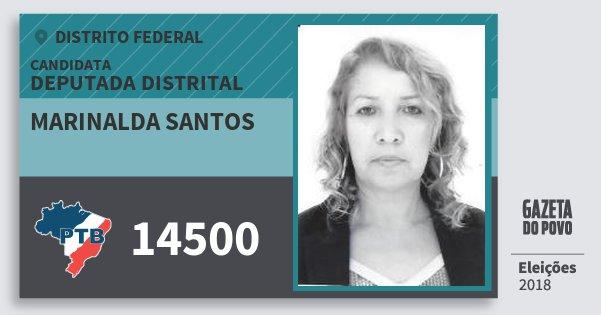 Santinho Marinalda Santos 14500 (PTB) Deputada Distrital | Distrito Federal | Eleições 2018
