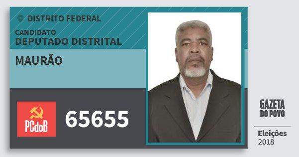 Santinho Maurão 65655 (PC do B) Deputado Distrital | Distrito Federal | Eleições 2018