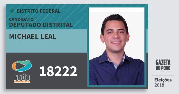 Santinho Michael Leal 18222 (REDE) Deputado Distrital | Distrito Federal | Eleições 2018