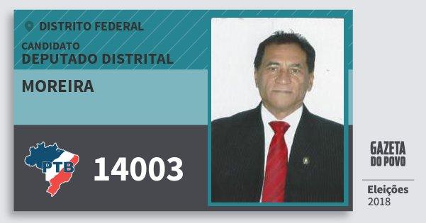 Santinho Moreira 14003 (PTB) Deputado Distrital | Distrito Federal | Eleições 2018