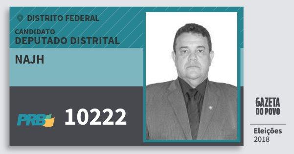 Santinho Najh 10222 (PRB) Deputado Distrital | Distrito Federal | Eleições 2018