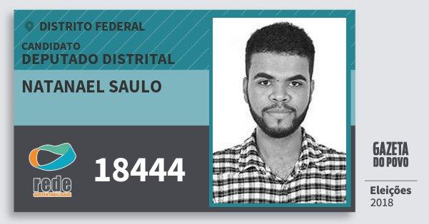 Santinho Natanael Saulo 18444 (REDE) Deputado Distrital | Distrito Federal | Eleições 2018