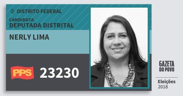 Santinho Nerly Lima 23230 (PPS) Deputada Distrital | Distrito Federal | Eleições 2018
