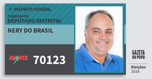Santinho Nery do Brasil 70123 (AVANTE) Deputado Distrital | Distrito Federal | Eleições 2018