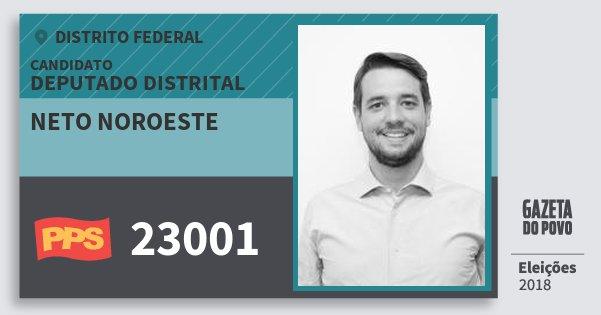 Santinho Neto Noroeste 23001 (PPS) Deputado Distrital | Distrito Federal | Eleições 2018