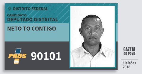 Santinho Neto To Contigo 90101 (PROS) Deputado Distrital | Distrito Federal | Eleições 2018