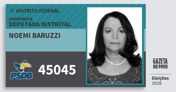 Santinho Noemi Baruzzi 45045 (PSDB) Deputada Distrital | Distrito Federal | Eleições 2018