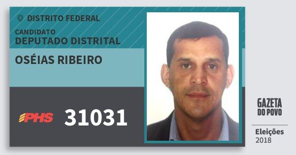 Santinho Oséias Ribeiro 31031 (PHS) Deputado Distrital | Distrito Federal | Eleições 2018