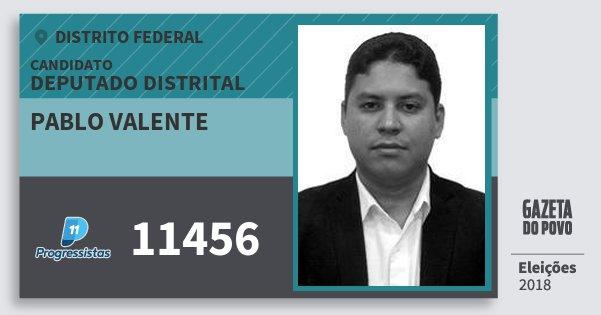 Santinho Pablo Valente 11456 (PP) Deputado Distrital | Distrito Federal | Eleições 2018