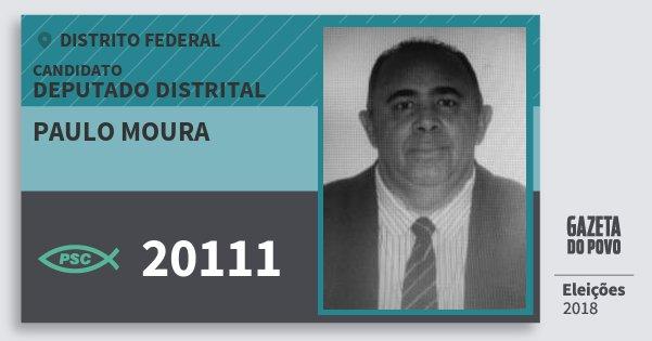 Santinho Paulo Moura 20111 (PSC) Deputado Distrital | Distrito Federal | Eleições 2018