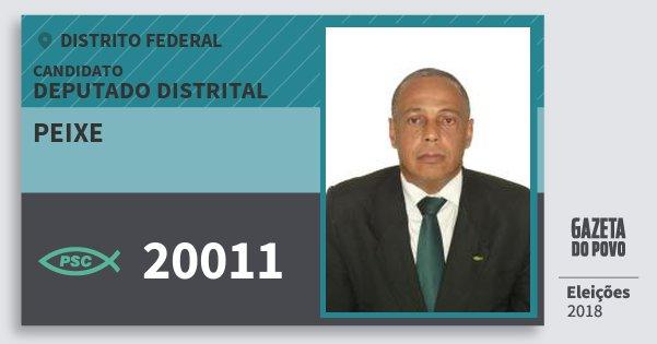 Santinho Peixe 20011 (PSC) Deputado Distrital | Distrito Federal | Eleições 2018