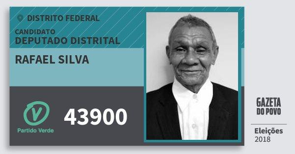Santinho Rafael Silva 43900 (PV) Deputado Distrital | Distrito Federal | Eleições 2018