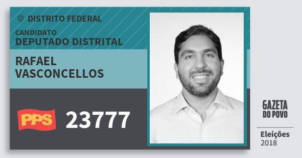 Santinho Rafael Vasconcellos 23777 (PPS) Deputado Distrital | Distrito Federal | Eleições 2018