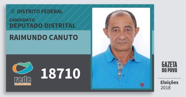 Santinho Raimundo Canuto 18710 (REDE) Deputado Distrital | Distrito Federal | Eleições 2018