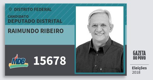 Santinho Raimundo Ribeiro 15678 (MDB) Deputado Distrital | Distrito Federal | Eleições 2018