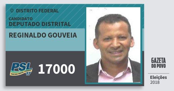 Santinho Reginaldo Gouveia 17000 (PSL) Deputado Distrital | Distrito Federal | Eleições 2018