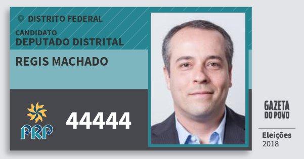 Santinho Regis Machado 44444 (PRP) Deputado Distrital | Distrito Federal | Eleições 2018