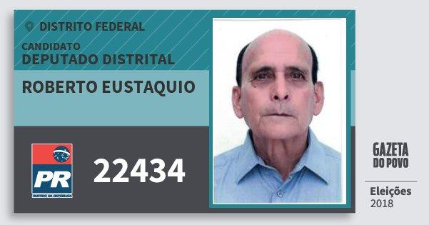 Santinho Roberto Eustaquio 22434 (PR) Deputado Distrital | Distrito Federal | Eleições 2018