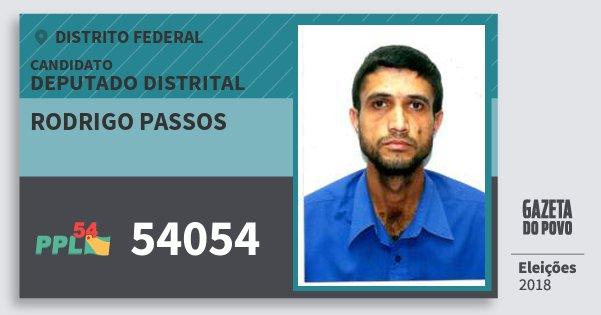 Santinho Rodrigo Passos 54054 (PPL) Deputado Distrital | Distrito Federal | Eleições 2018